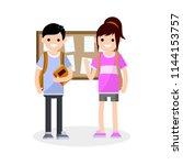 high school guys. a couple guy...   Shutterstock . vector #1144153757