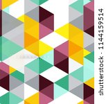 multicolored triangles abstract ... | Shutterstock .eps vector #1144159514