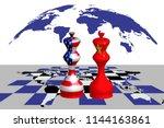 trade war between usa and china ...   Shutterstock . vector #1144163861