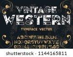 vintage font typeface... | Shutterstock .eps vector #1144165811