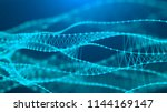 music abstract blue background. ... | Shutterstock . vector #1144169147