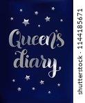 brush calligraphy of queen's... | Shutterstock .eps vector #1144185671
