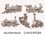 graphical color set of trains... | Shutterstock .eps vector #1144194284