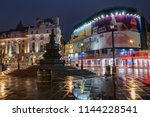 piccadilly circus  london... | Shutterstock . vector #1144228541