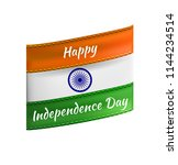 india flag as symbol of indian  ...   Shutterstock .eps vector #1144234514