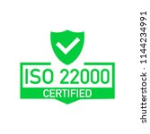 iso 22000 certified badge  icon.... | Shutterstock .eps vector #1144234991