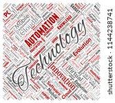 vector conceptual digital smart ... | Shutterstock .eps vector #1144238741