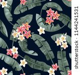 tropical seamless pattern with... | Shutterstock .eps vector #1144241531