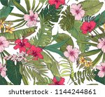 seamless background with... | Shutterstock .eps vector #1144244861