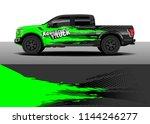 truck decal wrap design  car... | Shutterstock .eps vector #1144246277