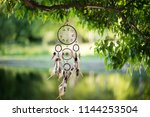 dreamcatcher  american native... | Shutterstock . vector #1144253504