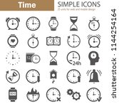 time simple icons set for web... | Shutterstock .eps vector #1144254164