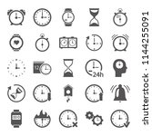 time line icons set for web and ... | Shutterstock .eps vector #1144255091