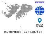 dot falkland islands map.... | Shutterstock .eps vector #1144287584