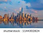new york city  with manhattan...   Shutterstock . vector #1144302824