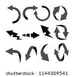 modern arrow icon button set... | Shutterstock .eps vector #1144309541