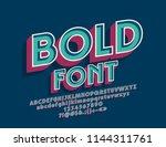 vector vintage bold font. set... | Shutterstock .eps vector #1144311761