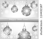 happy new year greeting card or ... | Shutterstock . vector #114432187
