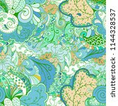tracery seamless pattern.... | Shutterstock .eps vector #1144328537