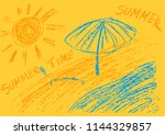 children's drawing colored... | Shutterstock .eps vector #1144329857