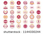 vintage retro vector logo for... | Shutterstock .eps vector #1144330244