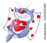 vector illustration of a cute...   Shutterstock .eps vector #1144332284