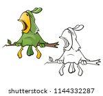 vector illustration of a cute...   Shutterstock .eps vector #1144332287