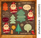 vector vintage christmas and... | Shutterstock .eps vector #114433351