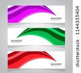 vector abstract design web... | Shutterstock .eps vector #1144335404