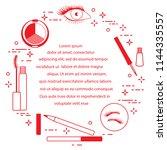 eye makeup. decorative... | Shutterstock .eps vector #1144335557