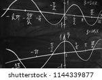 math lesson. sine and cosine... | Shutterstock . vector #1144339877