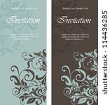 beautiful floral invitation... | Shutterstock .eps vector #114436285