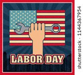 labor day card | Shutterstock .eps vector #1144367954