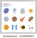 space icon set | Shutterstock .eps vector #1144369697