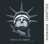 portrait. statue of liberty usa ... | Shutterstock .eps vector #1144377221