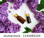 essential oil with lilac... | Shutterstock . vector #1144385234