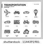 transportation icon set | Shutterstock .eps vector #1144391981