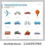 transportation icon set | Shutterstock .eps vector #1144391984