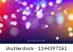 abstract blurred light element... | Shutterstock .eps vector #1144397261