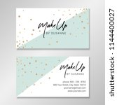 business card design with white ... | Shutterstock .eps vector #1144400027