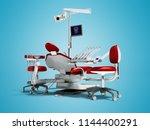modern red dental chair and... | Shutterstock . vector #1144400291