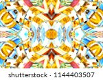 colorful symmetrical horizontal ... | Shutterstock . vector #1144403507