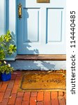 welcome mat outside the front... | Shutterstock . vector #114440485