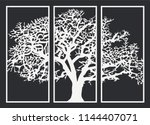 decorative cnc laser cut mdf... | Shutterstock .eps vector #1144407071