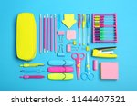 flat lay composition with... | Shutterstock . vector #1144407521