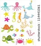 sea life | Shutterstock .eps vector #114441061