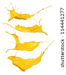 shot of yellow paint splashes  ... | Shutterstock . vector #114441277