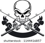 human skull with crossing... | Shutterstock .eps vector #1144416857