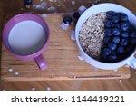 oatmeal  porridge  porridge... | Shutterstock . vector #1144419221
