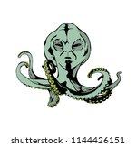 octopus with alien head   Shutterstock .eps vector #1144426151
